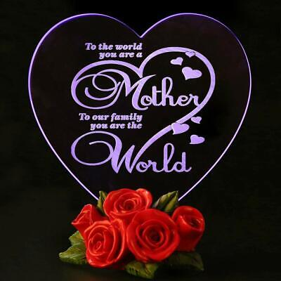 Valentines Day Gift Mothers Day Gifts Birthday Presents for Mom-Cake Toppers LED ()
