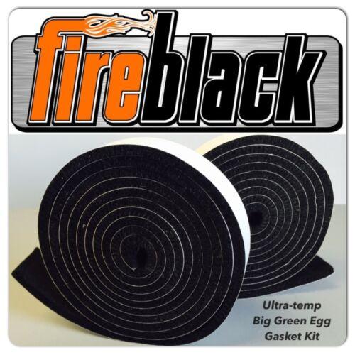 FireBlack® FB125 Self Stick BLACK High Temp Gasket Kit LARGE Big Green Egg - LG