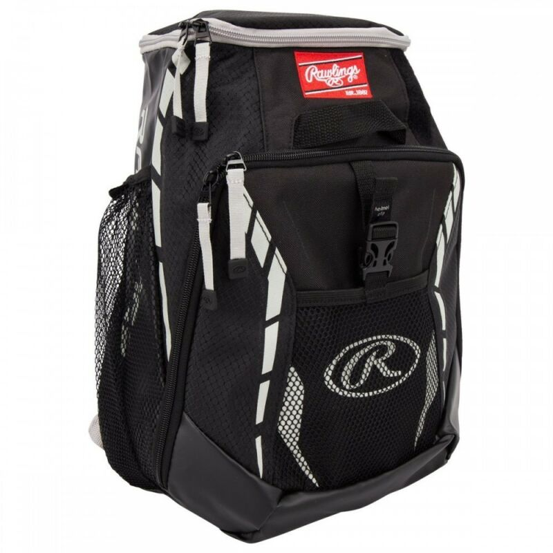 BASEBALL BACKPACK EQUIPMENT BAG ~ Rawlings Youth 12U Black 2-Bat Back Pack New!