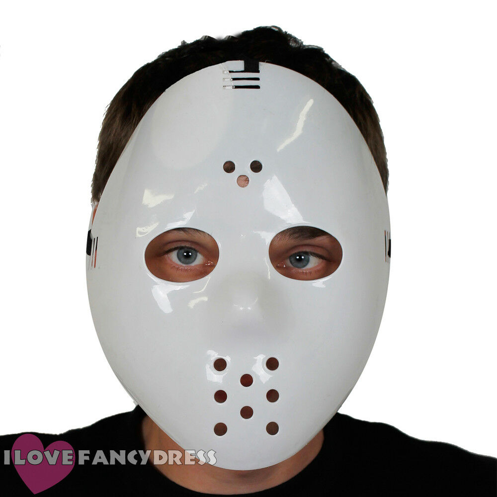 Adult Phantom Side Mask White Outfit Fancy Dress Masquerade Ball Halloween