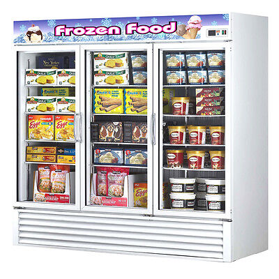 Turbo Air Tgf-72f-n Freezer 3 Doors Swing Glass Merchandiser White Cabinet