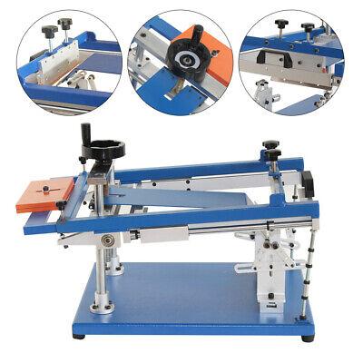 Manual Cylinder Screen Printing Machinesilk Screen Press Printer Surface Curve