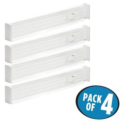 mDesign Adjustable Deep Drawer Organizer Dividers for Dresser Storage - Pack of ()