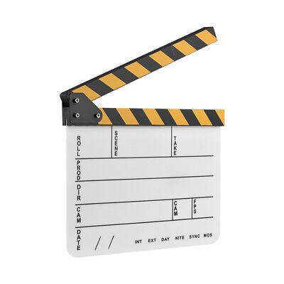 Movie Film TV Slate Clapper Board Dry Erase Clapboard Cut Action Scene - Action Clapboard