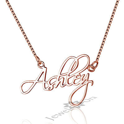 Handmade Name Pendant Chain Personalized 925 Sterling Silver Name Necklace New
