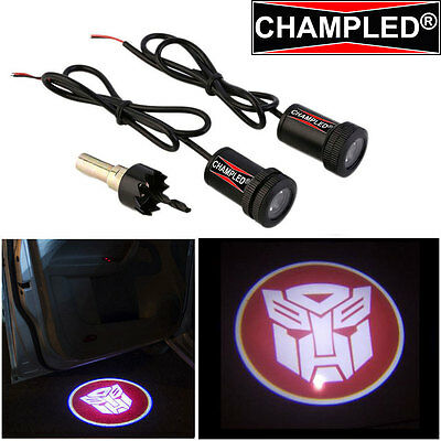 Led Projector Logo Emblem Symbol Sign Badge Under Door Step Courtesy Transformer