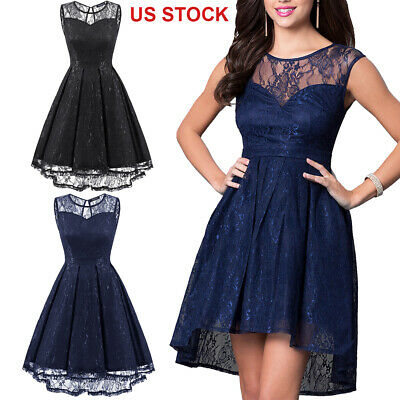 Summer Women Elegant Lace A-Line Formal Homecoming Party Cocktail Evening Dress