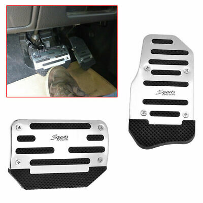Universal Silver Car Interior Foot Rest Pedals Pad Cover Car Accessories Durable