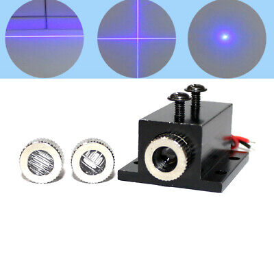 450nm 50mw 3v-3.6v Blue Laser Diode Module Dot Line Cross 12x35mm W Heatsink
