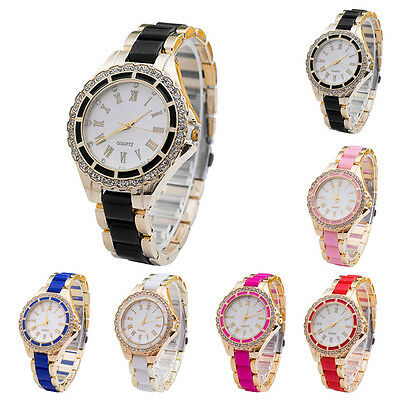 Luxury Stainless Steel Women Watch Crystal Dial Band Analog Quartz Wrist Watches