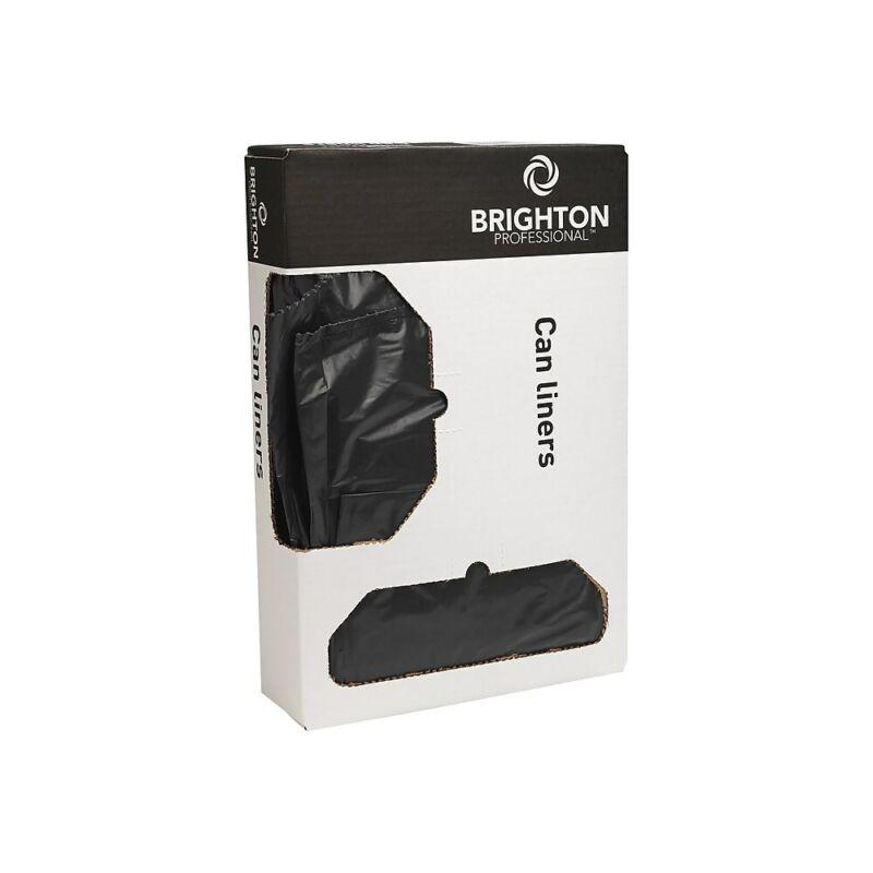 Brighton Trash Bags 23 gal 28x45 0.9 Mil Black 200 CT 8 RL of 25 BG per RL
