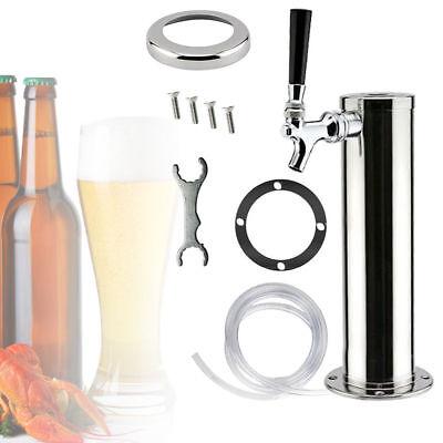 Single Tap 3 Dia. Draft Beer Tower - Stainless Steel - Bar Pub Kegerator System
