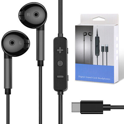 USB-C Wired Earphones with Mic & Volume Control & Voice Changer for Gaming US