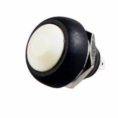 White Momentary Push Button Switch Horn Button Car Atv Golfcart Rv Off On Fu