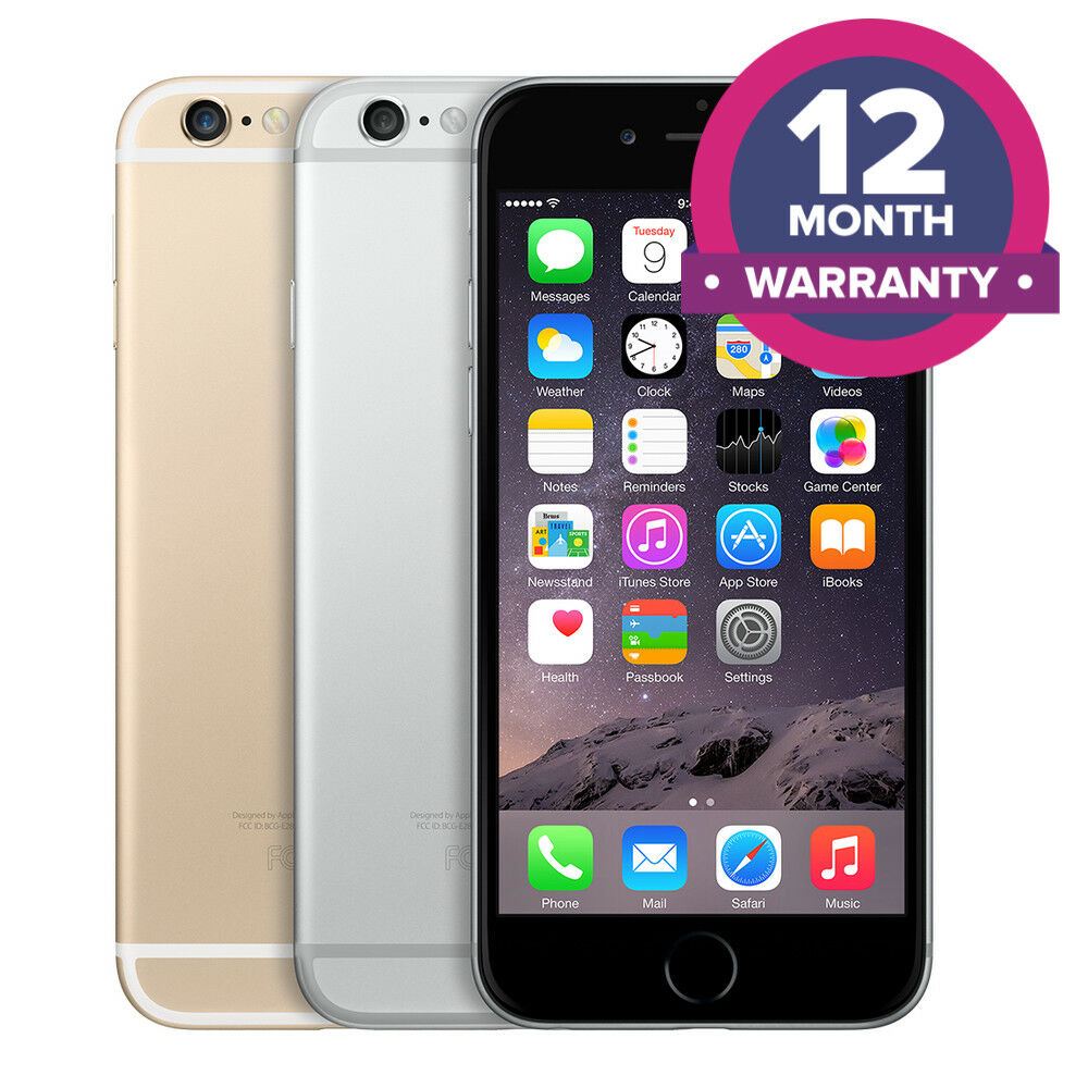 SELLER REFURBISHED APPLE IPHONE 6 UNLOCKED SMARTPHONE - 16GB 64GB 128GB - ALL COLOURS
