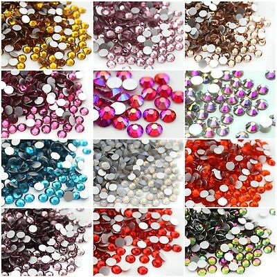 288 1440pc Nail Art Rhinestones Flatback Glitter Crystal Gems 3D Tips Decoration - 288 Pc