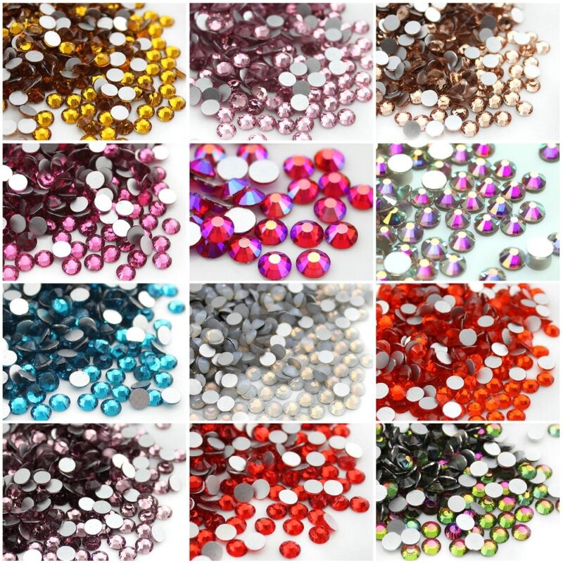 1440pcs Glitter Nail Art Rhinestones Flatback Crystals Gems 3d Nails Decoration