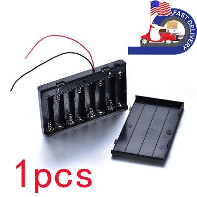Enclosed Battery Holder Connector Box Case 2x 4x 8x Aa 1.5v 6v 12v 1xaaa 2x18650
