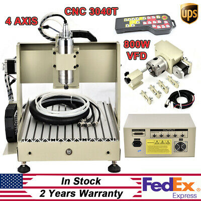 800w 4axis 3040 Cnc Router Engraver Drilling Milling Engraver Machinecontroller