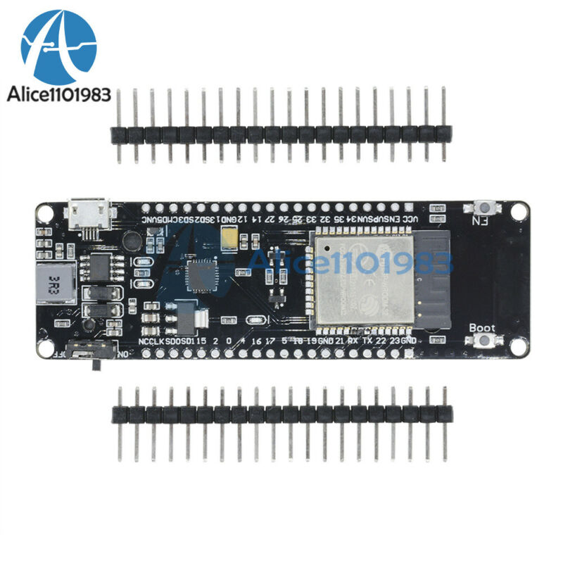 Esp32 Wifi Bluetooth 0.96 Inch Oled Development Cp2102 18650 Battery Board