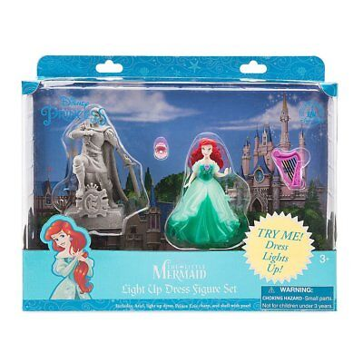 WDW DISNEY PARKS THE LITTLE MERMAID LIGHT UP DRESS FIGURE SET BRAND NEW IN  BOX