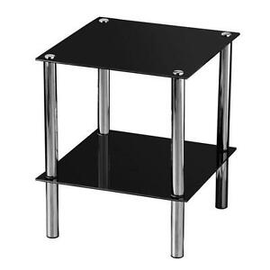 Black Glass Tables glass side tables | ebay