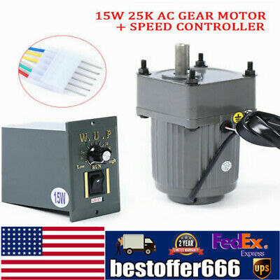 Electric Geared Ac Motor Single-phase Motorvariable Speed Reduction Controller