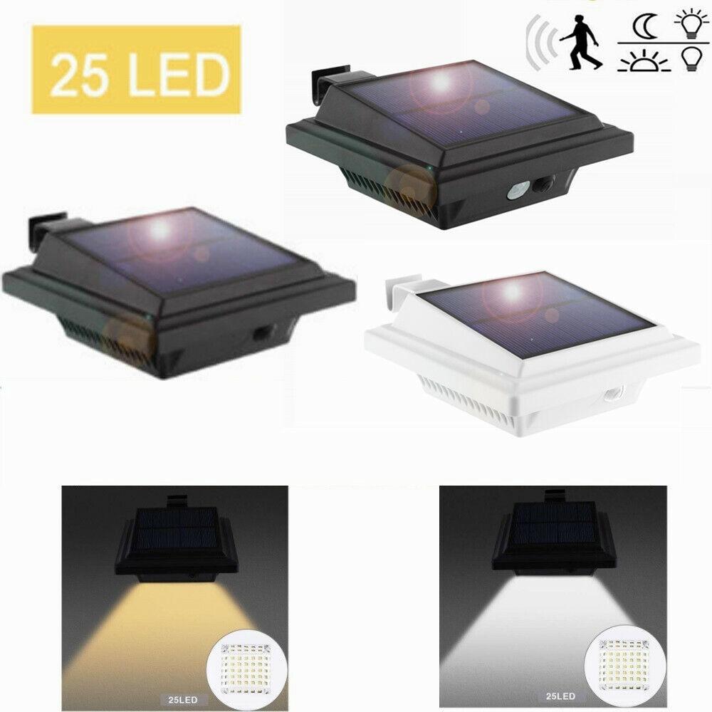 2 LED Solar Dachrinnen Leuchten Zaun Solarlampe Wege Lampe Dachrinnenleuchte NEU