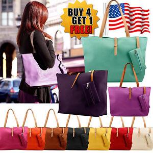 New-Womens-Faux-Leather-Fashion-Messenger-Handbag-Lady-Shoulder-Bag-Totes-Purse