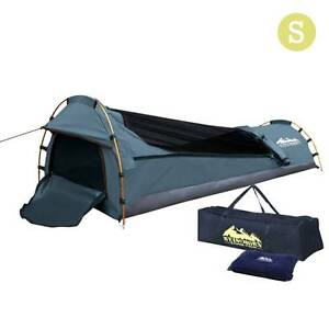 AUS FREE DEL-Lightweight Single Biker Camping Canvas Swag Navy Sydney City Inner Sydney Preview