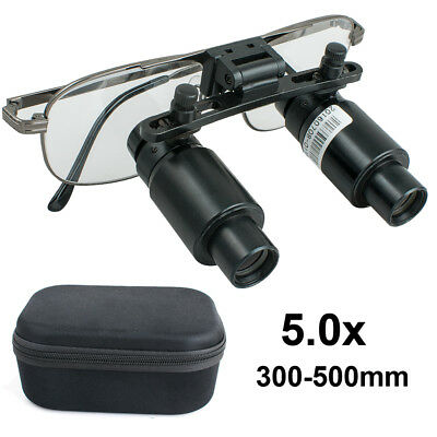 Dental Loupes 5x 300-500mm Surgical Medical Binocular Dentist Magnifier Zooming