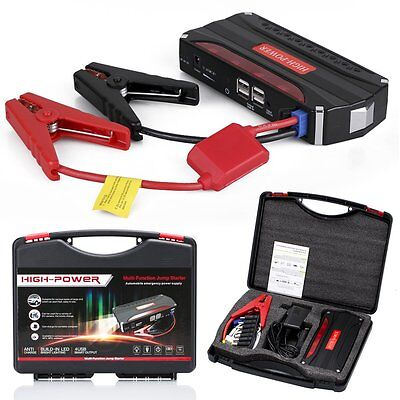 68800 mAh Heavy Duty Car Emergency Charger Jump Starter  USB Power Bank Booster