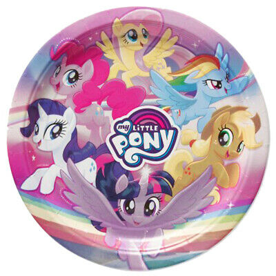 My Little Pony The Movie Lunch Plates 8 Per Package Birthday Party Supplies New - Mlp Birthday Party