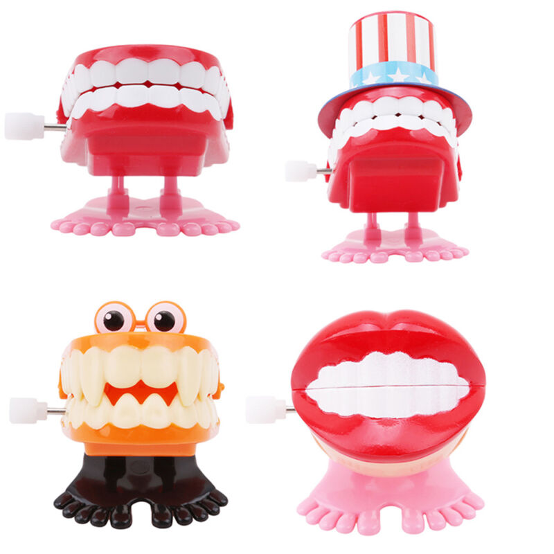 Creative Cartoon Chattering Jumping Clockwork Toy Mini Children Funny Toys Gifts