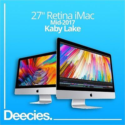 "NEW 2017 Apple Retina iMac 27"" 5k 4.2Ghz i7 Kaby Lake 32GB 3TB Fusion Radeon 580"