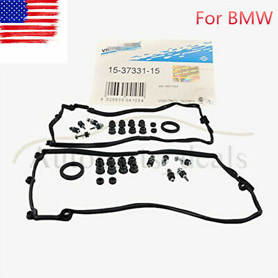 Set of L+R Valve Cover Gasket w/ Bolts For BMW 545i 550i 645ci 745i X5 4.4L 4.8L