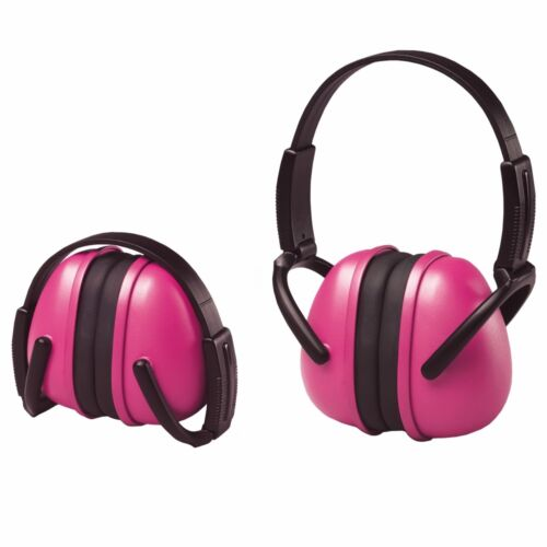 ERB Folding Ear Muffs, NRR 23 Hearing Protection, Pink, 14242