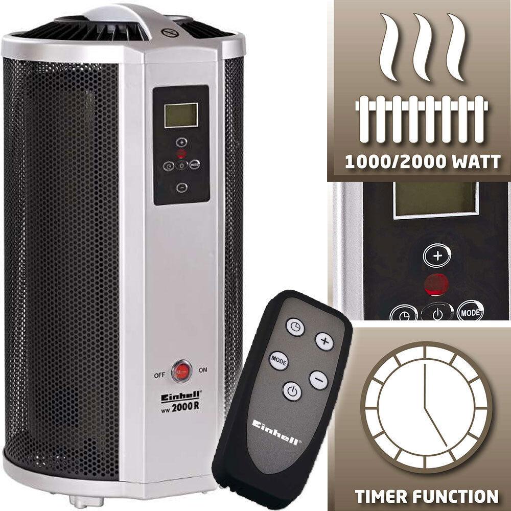 Einhell 2000 W Wärmewellenheizung Elektro Heizung Heizer Heizstrahler Heizlüfter