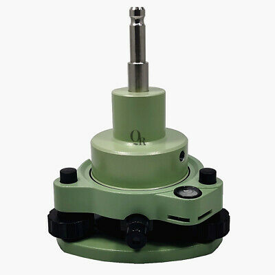 Green Three-jaw Tribrach With Optical Plummetadapter For Leica Prism Surveying