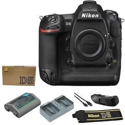 BRAND NEW Nikon D5 Digital SLR Camera Body 20.8 MP (Dual XQD Slots, Black)