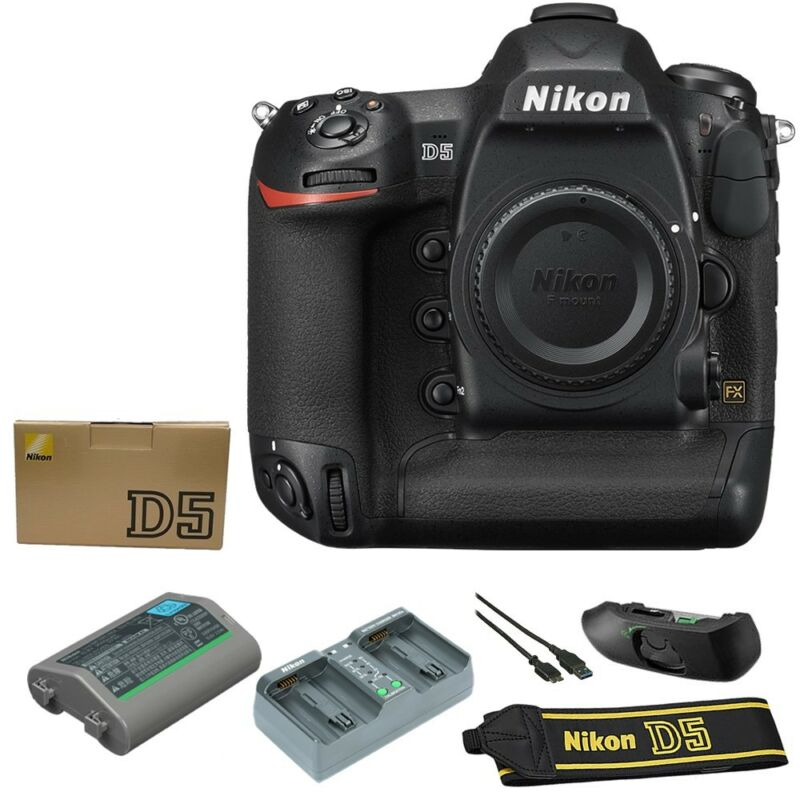 Nikon D5 DSLR Camera Dual XQD (Body Only) Black 1557