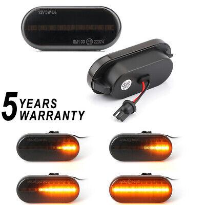 Dynamic L + R Smoked LED Side Marker Lights Lens Fender For VW MK4 Jette Beetle
