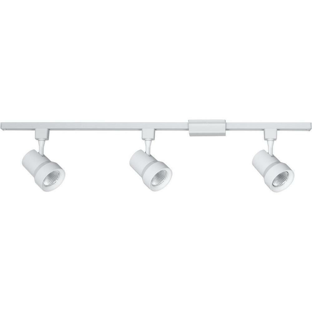 "Progress Lighting P900008-27 48/"" Long 2700K LED Track Kit with 3 Track Heads and"