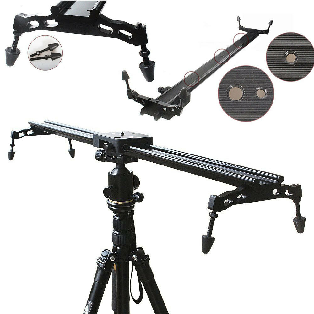 60CM Photo Studio Track Dolly Slider DSLR Camera Video Stabilization Rail System