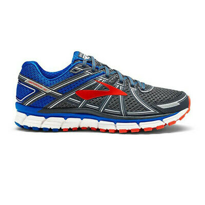 Brooks Mens Defyance 10 Running Shoes Trainers Sneakers Blue Grey Red Sports