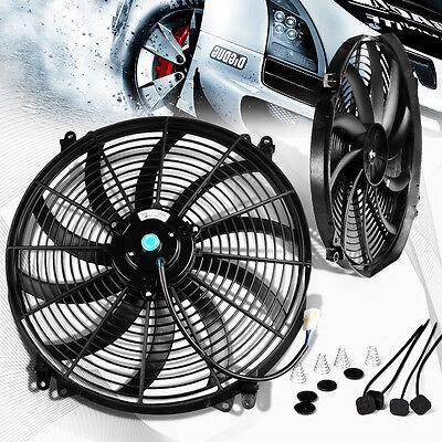 "Universal 16"" Inch 12V Slim Fan Push Pull Electric Radiator Cooling Fan"