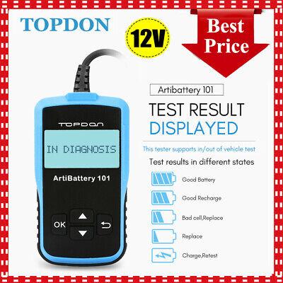 Car 12V Battery Tester Analyzer Diagnostic Tool Topdon Cranking Charging