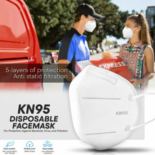 Kn95 Protective Face Mask -100 Pc- 5-layer Pm2.5 95% Disposable Respirator Cover