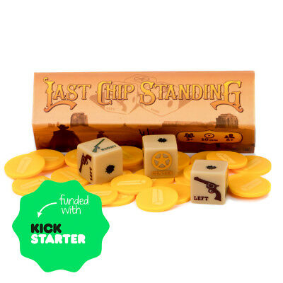 Last Chip Standing Western Themed Dice Game Set - Western Theme Games