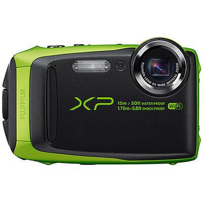 """Fujifilm FinePix XP90 16 MP Waterproof Digital Camera w/ 3"""" LCD - Green"""